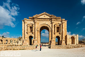 Photo : Arc d'Hadrien, Cité antique de Jerash, Jordanie, Jerash, Jordanie