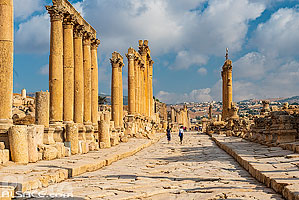 Photo : Cardo Maximus, Cité antique de Jerash, Jordanie, Jerash, Jordanie