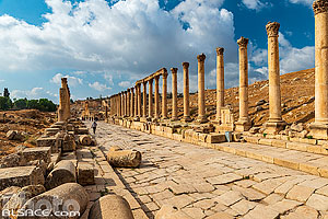 Photo : Cardo Maximus, Cité antique de Jerash, Jordanie