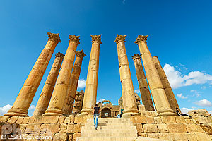 Photo : Temple d'Artémis, Cité antique de Jerash, Jordanie, Jerash, Jordanie