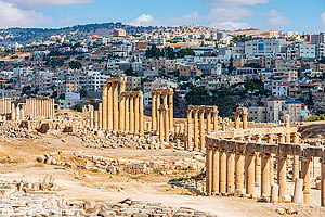 Photo : Cité antique de Jerash, Jordanie, Jerash, Jordanie
