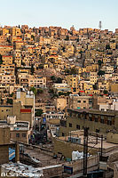 Photo : Vue sur Downtown le soir à Amman, Jordanie