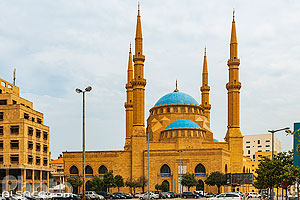 Photo : Mosquée Mohammad Al Amine, Centre-Ville de Beyrouth, Beyrouth, Liban