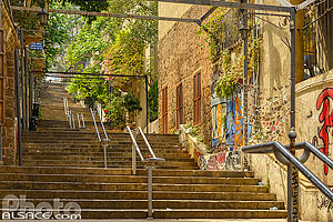 Photo : Escalier Saint-Nicolas dans le secteur de Mar Nicolas, Remeil, Beyrouth, Liban, Beyrouth, Liban