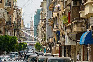 Photo : Circulation automobile dans la rue Gouraud, Beyrouth, Liban, Beyrouth, Liban