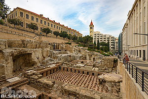 Photo : Vestiges des thermes Romains de Beyrouth, Centre-Ville de Beyrouth, Beyrouth, Liban