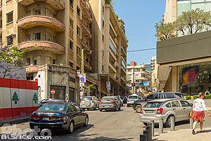 Photo : Rue Michel Chiha, Minet El-Hosn, Beyrouth, Liban