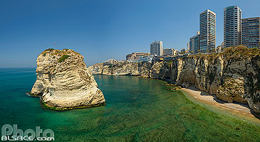 Photo : Grotte aux Pigeons (Raouché), Ras Beyrouth, Beyrouth, Liban, Beyrouth, Liban