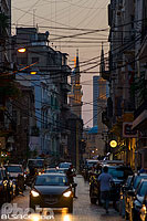 Photo : Rue Gouraud la nuit, Remeil, Beyrouth, Liban, Beyrouth, Liban