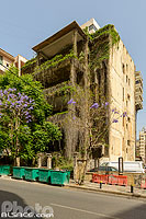 Photo : Immeuble de la rue Michel Chiha, Minet El-Hosn, Beyrouth, Liban