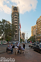 Photo : Joueurs place Sassine, Achrafieh, Beyrouth, Liban