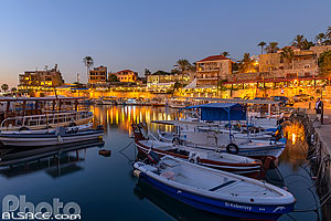 Photo : Port de pêches de Byblos la nuit, Jbeil, Mont-Liban, Liban