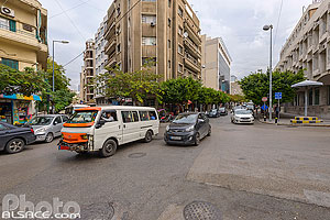 Photo : Carrefour rue Hamra et rue de Rome, Ras Beyrouth, Beyrouth, Liban