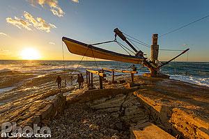 Petit port pour les barques faisant la visite de la Grotte aux Pigeons (Raouché), El Delie - Rouche, Ras Beyrouth, Beyrouth, Liban, Beyrouth, Liban