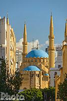 Horloge de Nejmeh Square et Mosquée Mohammad Al Amine, Marfaa, Centre-Ville de Beyrouth, Beyrouth, Liban, Beyrouth, Liban