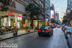 Photo : Rue Hamra la nuit, Ras Beyrouth, Beyrouth, Liban