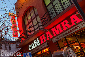 Café Hamra la nuit, Rue Hamra, Ras Beyrouth, Beyrouth, Liban, Beyrouth, Liban