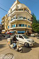 Photo : Carrefour rues Ibrahim Abdul Aal et Baalbek, Ras Beyrouth, Beyrouth, Liban