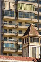 Eglise catholique Saint-François et immeuble d'habitation, Rue Hamra, Ras Beyrouth, Beyrouth, Liban, Beyrouth, Liban