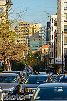 Circulation automobile rue Hamra, Ras Beyrouth, Beyrouth, Liban
