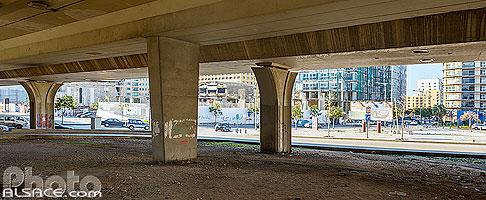 Sous l'autoroute urbaine 51M (Avenue Général Fouad Chéhab), Rue de Damas, Saifi, Beyrouth, Liban, Beyrouth, Liban