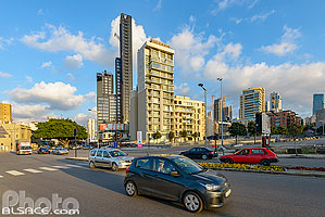 Photo : Rue Waygand et immeubles de Gemmayzeh, Saifi, Beyrouth, Liban