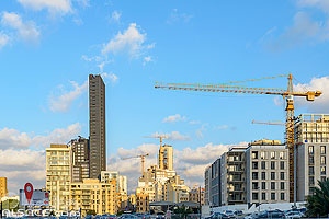 Photo : Iimmeubles de Gemmayzeh, Saifi, Beyrouth, Liban