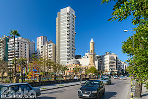 Photo : Rue Spears et Parc Sanayeh, Moussaitbé, Beyrouth, Liban