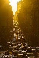 Embouteillage en fin de journée rue Spears pour sortir de Beyrouth Ouest, Minet El Hosn, Beyrouth, Liban, Beyrouth, Liban