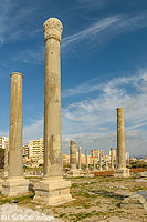 Photo : Basilique thermale, Site d'Al Mina, Ville antique de Tyr, Tyr (Sour), Liban-Sud, Liban