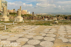 Basilique thermale, Site d'Al Mina, Ville antique de Tyr, Tyr (Sour), Liban-Sud, Liban
