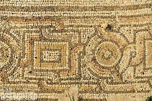 Mosaïque sur le Site d'Al Mina, Ville antique de Tyr, Tyr (Sour), Liban-Sud, Liban, Liban-Sud, Liban