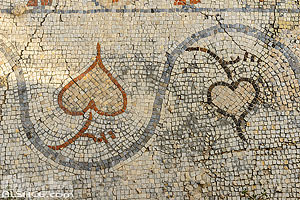 Photo : Mosaïque sur le Site d'Al Mina, Ville antique de Tyr, Tyr (Sour), Liban-Sud, Liban