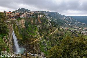 Le Chir (falaise) et la cascade de Jezzine, Jezzine, Liban-Sud, Liban, Liban-Sud, Liban
