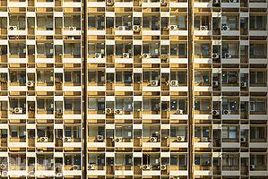 Photo : Façade de l'immeuble de Electricité du Liban, Rue d'Arménie, Medawar, Beyrouth, Liban