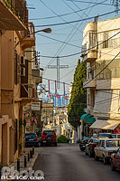 Photo : Croix dans la rue Younes Gebayli, Geitawi, Remeil, Beyrouth, Liban