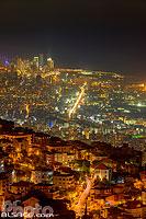 Photo : Beyrouth la nuit vue depuis Broummana, Mont-Liban, Liban