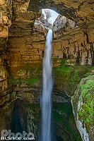 Photo : Gouffre des Trois Ponts (Gouffre de Baatara ou Baloue Balaa), Chatine, Liban-Nord, Liban