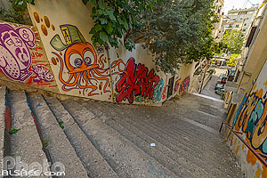 Photo : Escalier entre Mar Mikhael et Achrafieh (Saydeh Stair), Remeil, Beyrouth, Liban