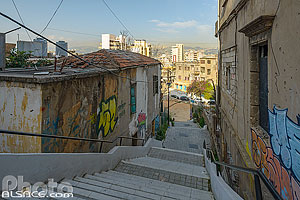 Photo : Escalier dans Geitawi, Remeil, Beyrouth, Liban