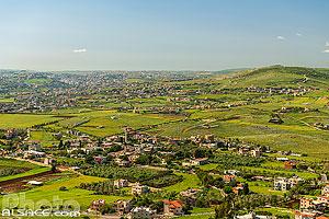 Village d'Arnoun et la ville de Nabatieh en arrière plan, Nabatieh, Liban, Nabatieh, Liban