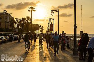 Corniche de Beyrouth le soir, Dar Mreisse, Beyrouth, Liban, Beyrouth, Liban