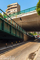 Photo : Superposition de ponts rue de l'Indépendance, Bachoura, Beyrouth, Liban
