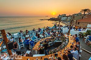 Bar Titans Rooftop et vue sur la Méditerranée, Batroun, Liban-Nord, Liban, Liban-Nord, Liban