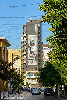 Photo : Fresque murale de l'artiste Simple G, Rue Hamra, Ras Beyrouth, Beyrouth, Liban, Beyrouth, Liban