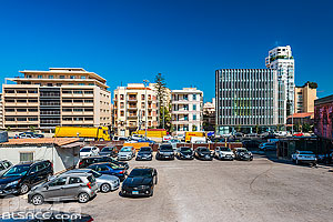 Parking dans le quartier de Saifi, Beyrouth, Liban