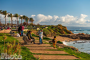 Photo : Front de mer à Tyr, Tyr (Sour), Liban-Sud, Liban