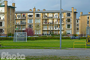 Photo : Immeubles de logements collectif, Distrcit de Zuid, Utrecht, Pays-Bas