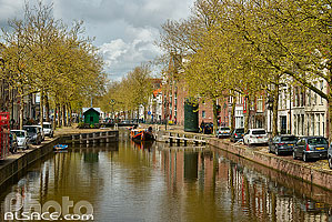 Photo : Lage Gouwe, Gouda, Zuid-Holland, Pays-Bas