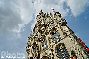 Photo : Hôtel de ville, Gouda, Zuid-Holland, Pays-Bas